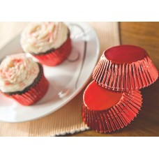 Foil Bake Cups Red (Quantity 32)
