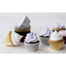 Foil Mini Bake Cups Gold (Quantity 45)