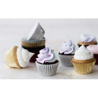 Foil Mini Bake Cups Green (Quantity 45)