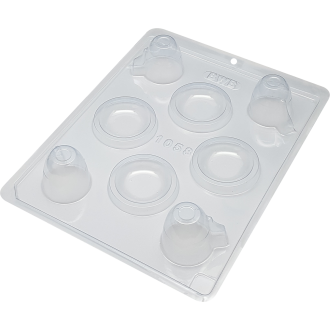 3 Part Mold for Perfect Cup and Saucer Chocolate Mold - 1058
