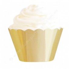 Gold Foil Cupcake Wrappers (12)