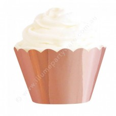 Rose Gold Foil Cupcake Wrappers (12)