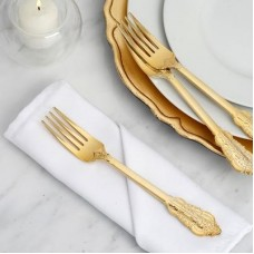 Chic Disposable Plastic Forks in Gold