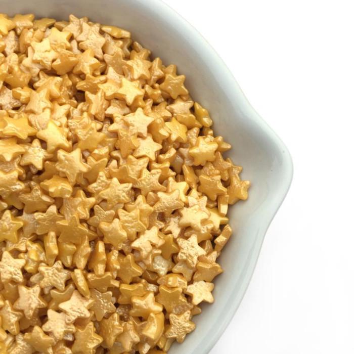 Shimmering Gold Stars (4 oz) 100% Natural