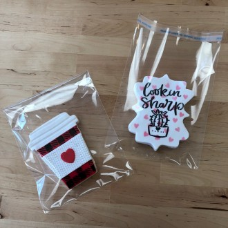 Cellophane Cookie Bags 4.75 x 6.5 Inch Flat Pack of 100 Resealable