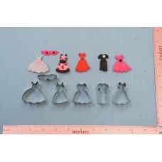 Mini Dresses Cookie Cutter (6 cutters)