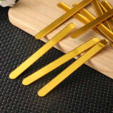 """Acrylic Sticks for Popsicle or Cake Sicle 4-1/2"""" (Package of 12) Gold Mirror"""