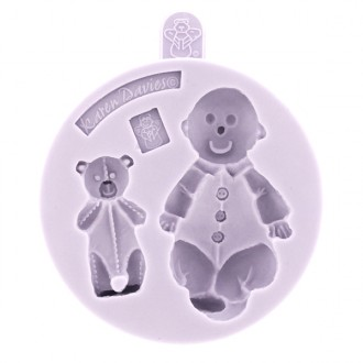 Karen Davies Baby and Teddy Silicone Mold