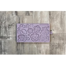 Karen Davies Brush Embroidery Flowers Silicone Mold