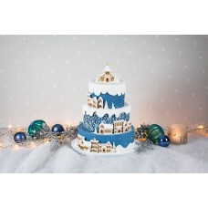 Karen Davies Winter Village Mould (Fondant & Cookies)