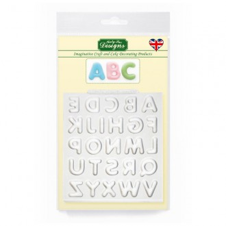 Domed Alphabet Uppercase Silicone Mold