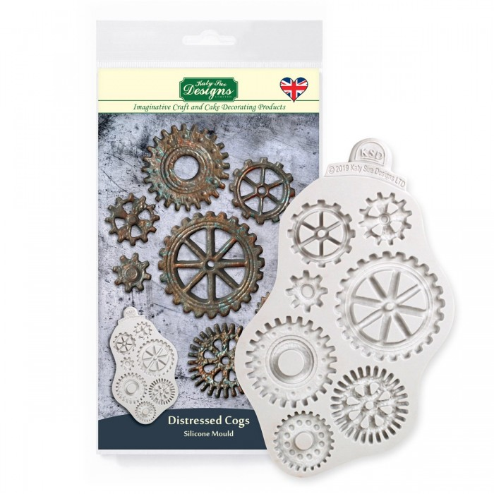 Distressed Cogs Silicone Mould