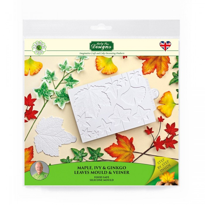 Flower Pro Maple, Ivy and Ginkgo Leaves Mould and Veiner Silicone Mold
