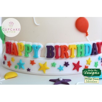 Happy Birthday Stars Banner Silicone Mold