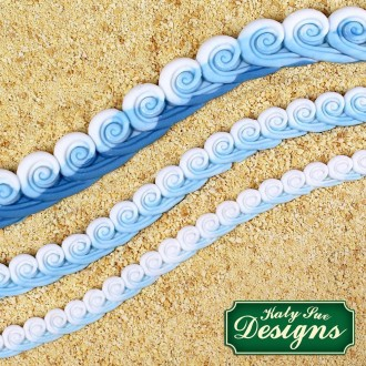 Sea Swirl Borders Silicone Mold