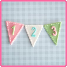 Bunting Numbers Silicone Mold