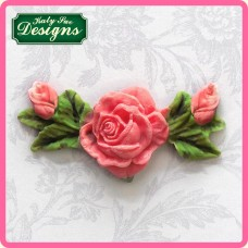 Rose, Bud & Leaf Decoration Silicone Mold
