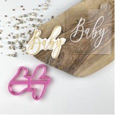 Baby in Florence Font Baby Shower Cookie Cutter and Embosser