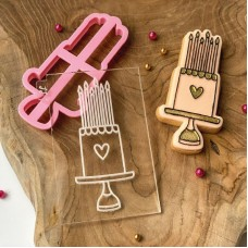 Birthday Cake Cookie Cutter and Embosser