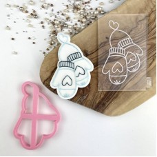 Christmas Mittens Cookie Cutter and Embosser