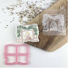 Classic Fireplace Christmas Cookie Cutter and Embosser by Luvelia