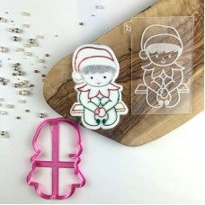 Elf on a Shelf Christmas Cookie Cutter and Embosser