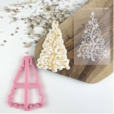 Extravagant Christmas Tree Cookie Cutter and Embosser