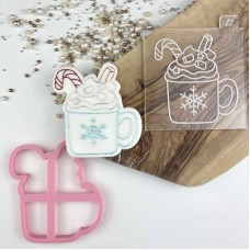 Cup of Hot Chocolate Cookie Cutter and Embosser by Luvelia