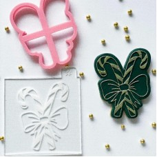 Candy Canes Cookie Cutter and Embosser by Luvelia