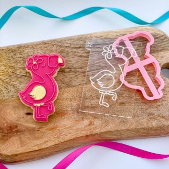 Flamingo Summer Cookie Cutter and Embosser