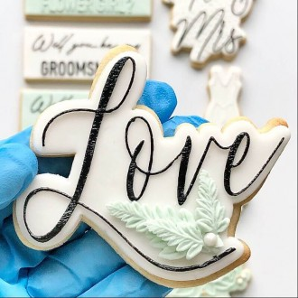 Love in Florence Font Wedding Cookie Cutter and Embosser