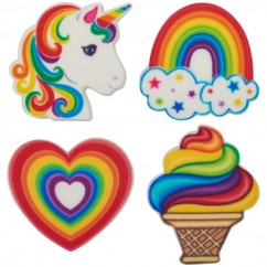 Rainbow Collection Sweet Décor® Printed Edible Decorations