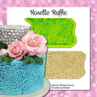 Rosette Ruffle Simpress Silicone Mold by Marvelous Molds