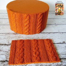Rib & Cable Knit Simpress Silicone Mold by Marvelous Molds