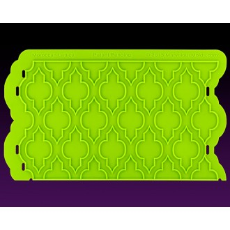 Moroccan Lattice Silicone Onlay Mold by Marvelous Molds