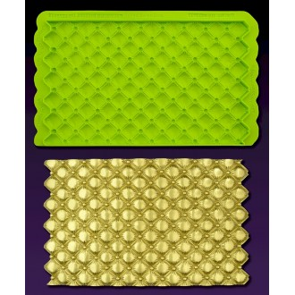 Tufted Swiss Dots Simpress Silicone Mold by Marvelous Molds