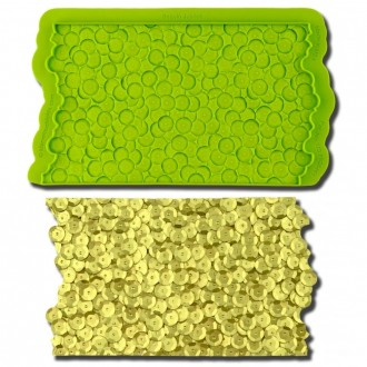 Sequins Jubilee Simpress Silicone Mold by Marvelous Molds