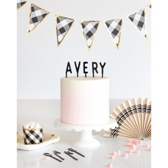 Letterboard Cake Toppers - Cake by Courtney (Black)