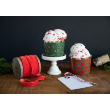 Foiled Holly Trees Baking / Treats Cups