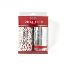 Foiled Silver Trees Baking / Treats Cups
