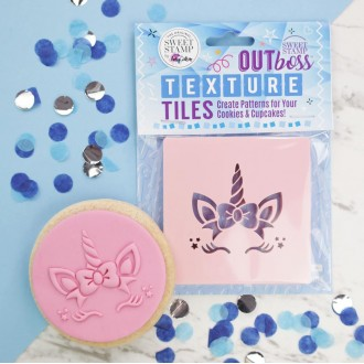 OUTboss™ Texture Tiles - Bow Unicorn