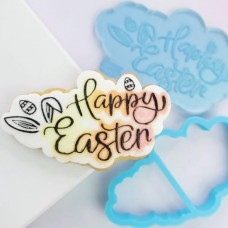 OUTboss™ Stamp N Cut - Happy Easter Cutter & Stamp