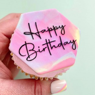OUTboss™ Expressions - Wish Upon A Cupcake Happy Birthday
