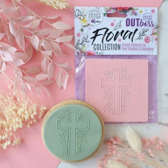 OUTboss™ Floral Collection - Floral Cross  (PRE-ORDER Your whole order wont ship before these stamps are in stock)