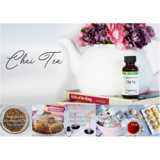 LorAnn Oils Gourmet: Chai Tea Flavor Soluble (1 oz - 29.5ml)