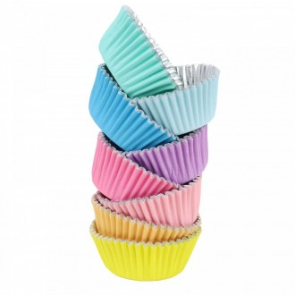 Foil Bake Cups Pastel Cupcake Cases x 100