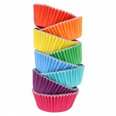 Foil Bake Cups Rainbow Cupcake Cases x 100