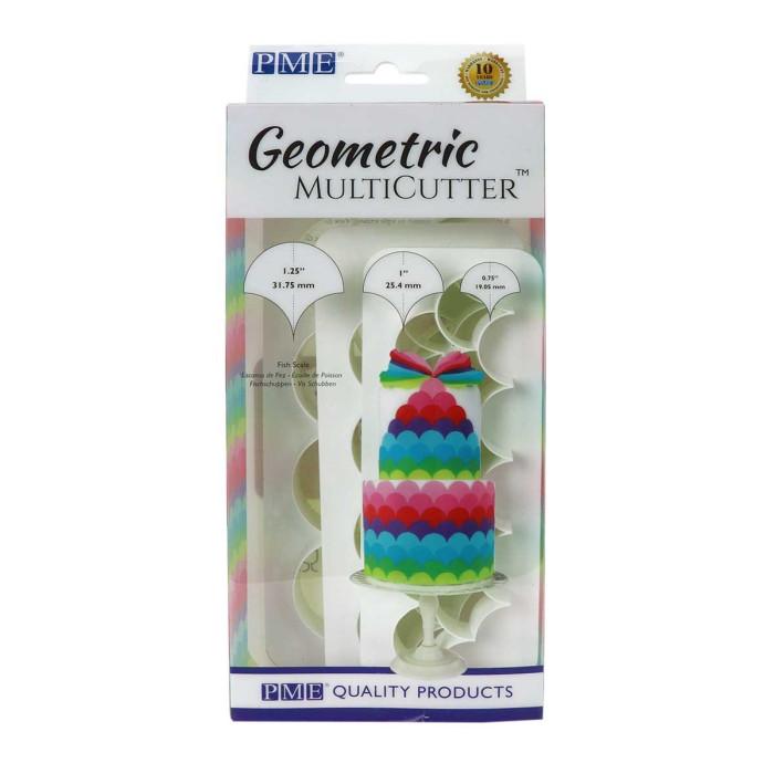 PME Geometric Multicutter- Fish Scale (Set of 3)