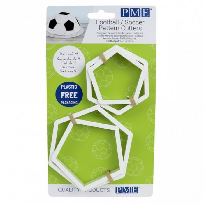 Football Pattern Cutters - Set of 4