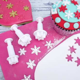 Snowflake cutter and plunger (Mini)
